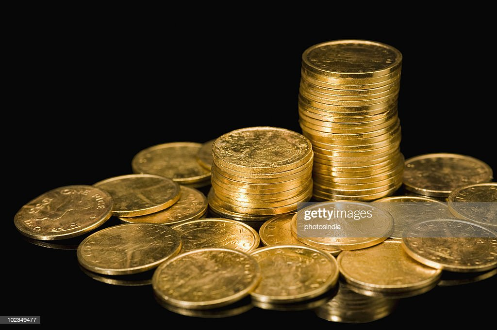 Close-up of Indian coins : Stock Photo
