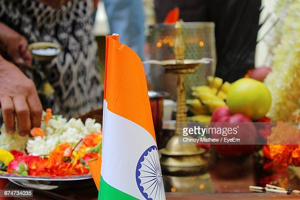 Close-Up Of Indian Flag During Independence Day