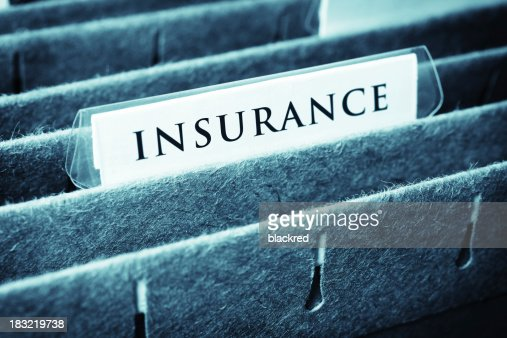 Close-up of insurance file