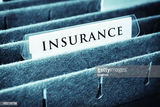 Gros plan d'une assurance du fichier
