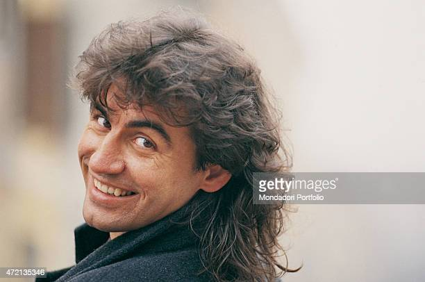 'Closeup of Italian singersongwriter Luciano Ligabue in a photocall shooted in his town Correggio December 1991 '