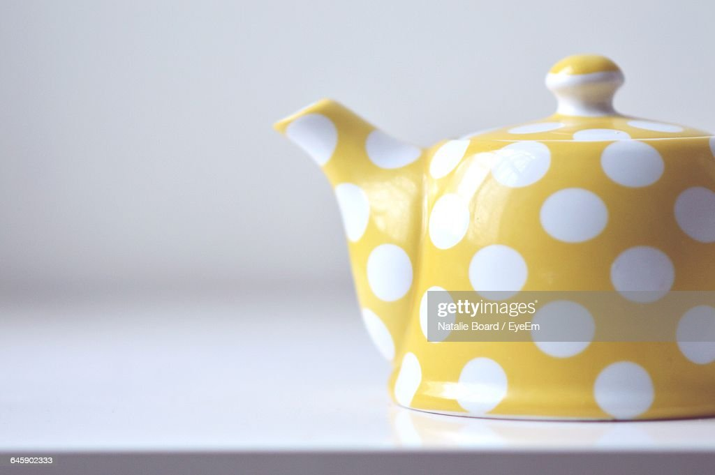 Close-Up Of Kettle Against White Background