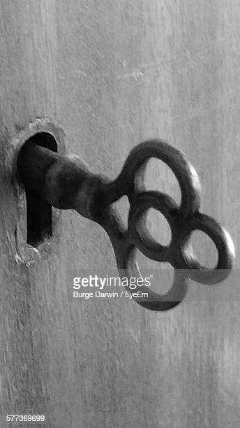 Close-Up Of Key In Keyhole