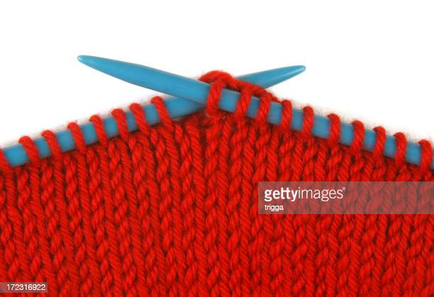 Closeup of knitting