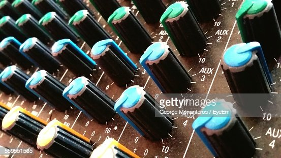 Close-Up Of Knob In Sound Mixer