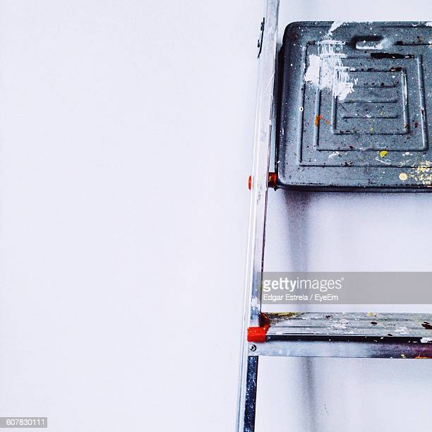 Close-Up Of Ladder Against Wall