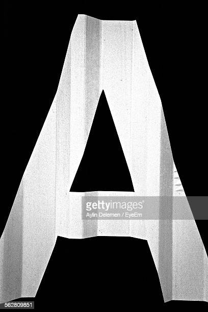 Close-Up Of Letter A With Black Background