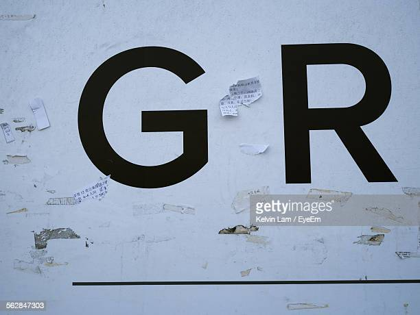 Close-Up Of Letter G And R With White Background