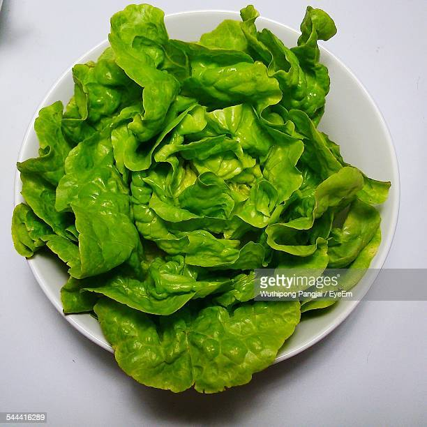 Close-Up Of Lettuce In Bowl