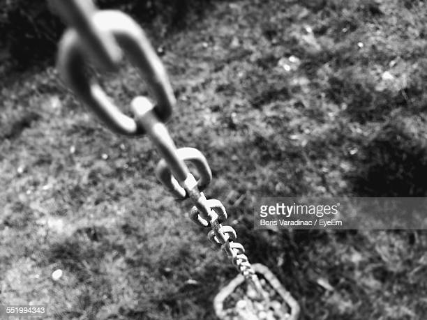 Close-Up Of Links Of Metal Chain