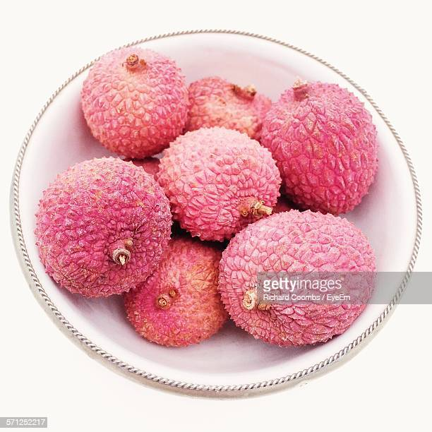 Close-Up Of Lychee Fruits In Bowl