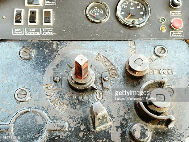 Close-Up Of Machine Part And Control Panel