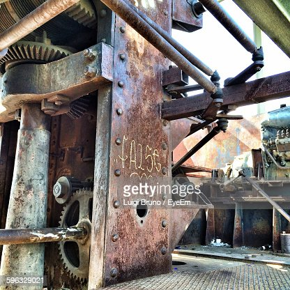 Close-Up Of Machinery At Industry