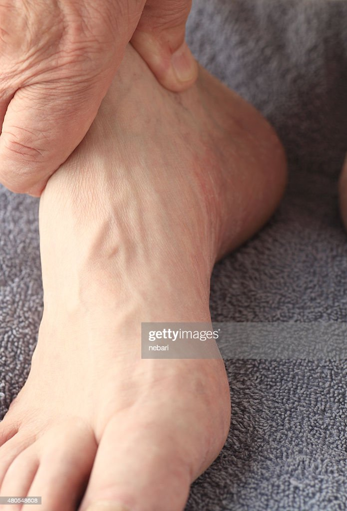 Closeup of male foot : Stock Photo