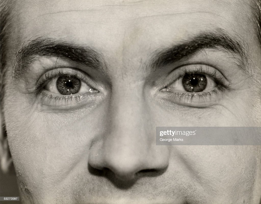 Close-up of man's eyes : Stock Photo