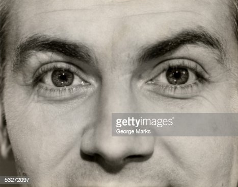 Close-up of man's eyes : Foto de stock