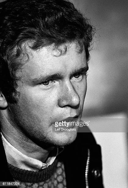 Closeup of Martin McGuinness head of the Provisional IRA during a press conference to lay out terms for a truce and engagement with the British...