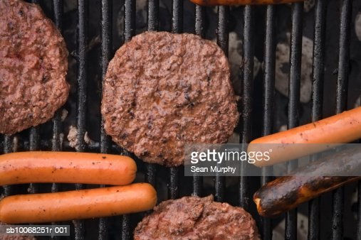 Close-up of meat on grill : Stock Photo