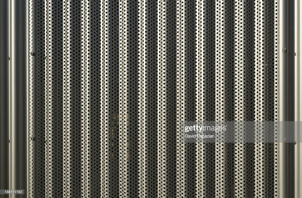 Close-up of metal sidding. : Stock Photo
