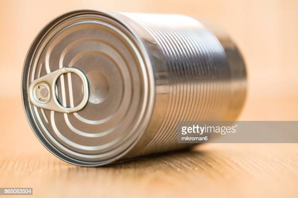 Close-Up Of Metallic Can