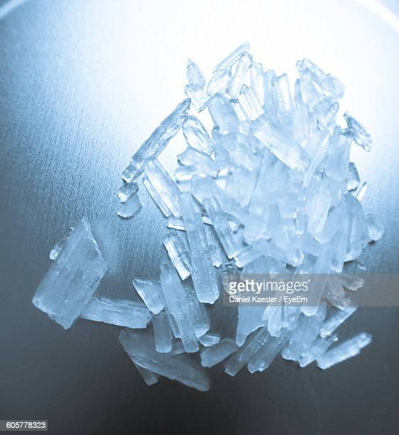 Close-Up Of Methamphetamine On Table