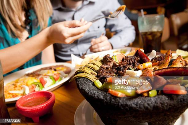 Closeup of Mexican Food at a Customer's Restaurant Table