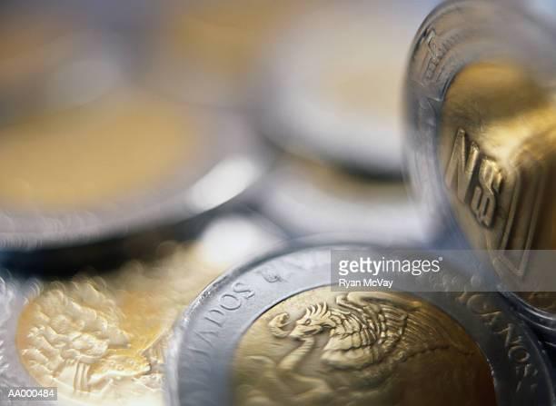 Close-up of Mexican Pesos