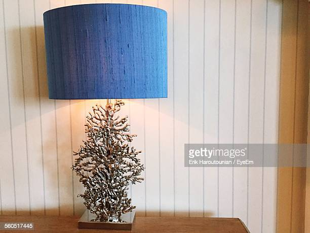 Close-Up Of Modern Table Lamp