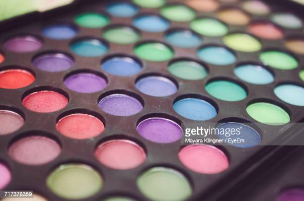 Close-Up Of Multi Colored Eyeshadow Kit
