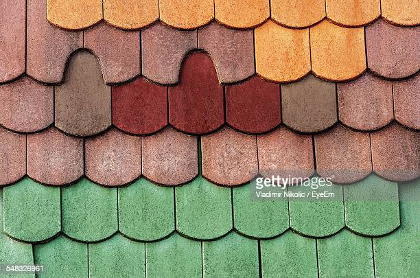 Close-Up Of Multi Colored Roof Tiles