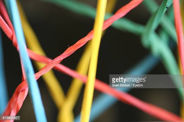 Close-up Of Multi Colored Rubber Band