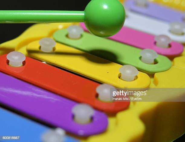 Close-Up Of Multi Colored Xylophone