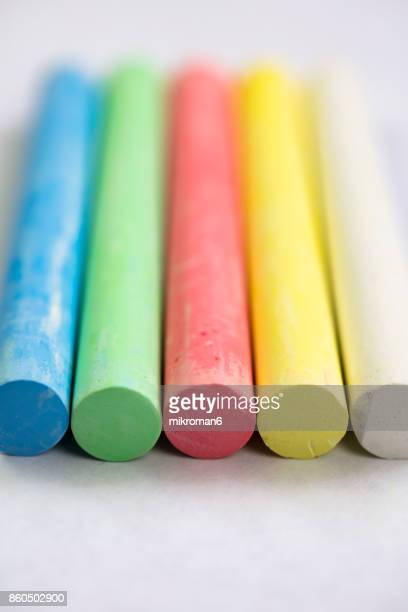 Close-up of multi-colored chalk