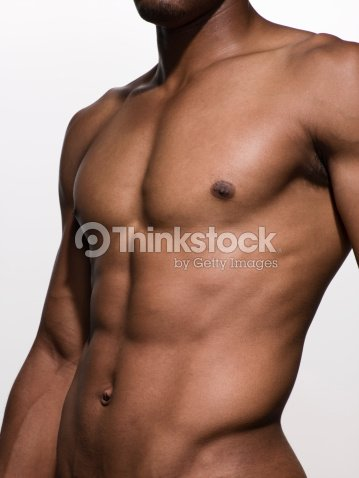 Nahaufnahme Der Muskeln Im Oberkörper Mann Stock-Foto | Thinkstock