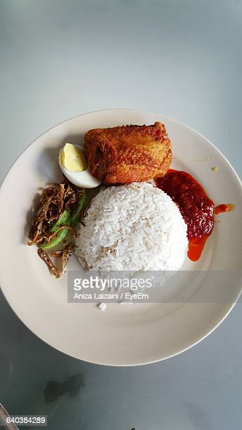 Close-Up Of Nasi Lemak Served In Plate