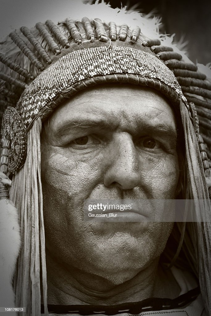 Close-up of Native American Indian Chief