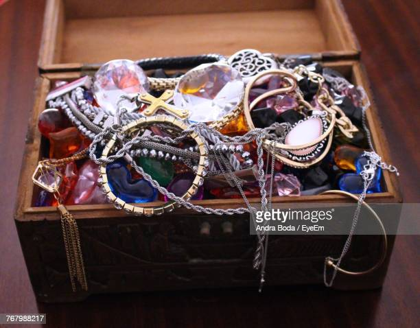 Close-Up Of Necklaces In Box