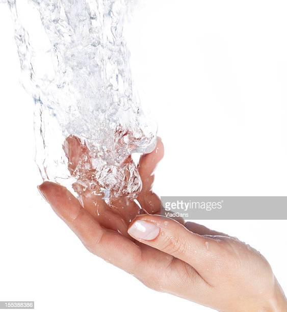 Closeup of nice wet hand