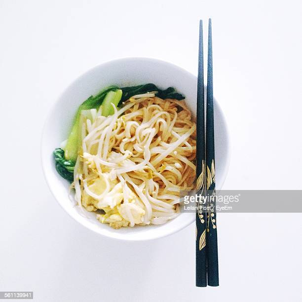 Close-Up Of Noodles Served In Bowl