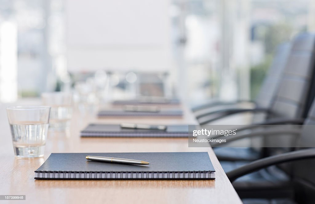 Closeup of notepads kept on table : Stockfoto