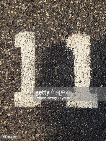 Close-up of number 11