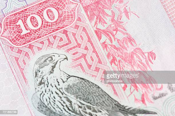 Close-up of one hundred Dinar banknote
