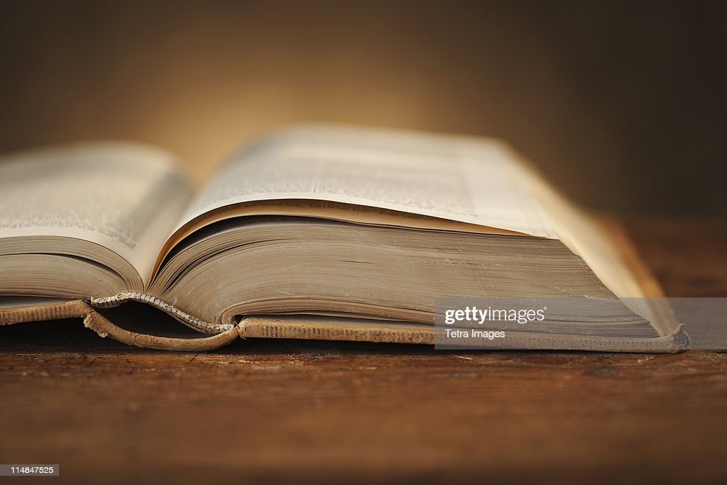 Close-up of open book : Stock Photo
