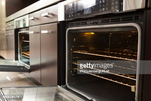Closeup Of Open Oven : Stock Photo