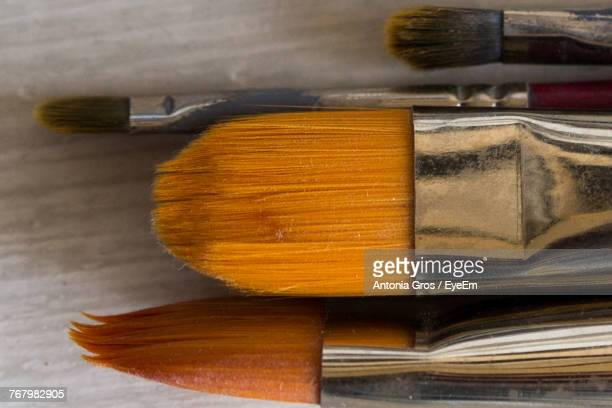 Close-Up Of Paintbrushes