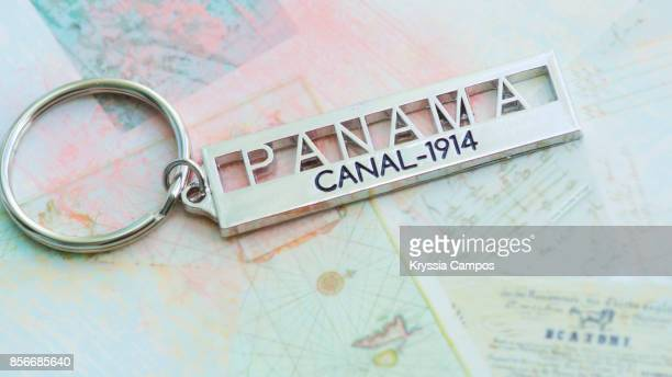 Close-up of Panama Canal Keychain
