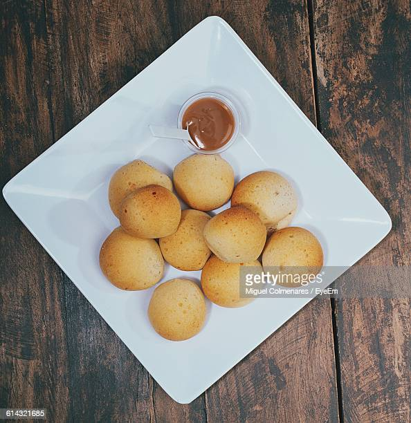 Close-Up Of Pandebono In Plate
