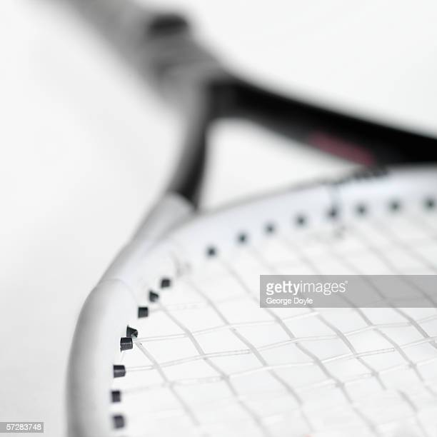 Close-up of part of tennis racket