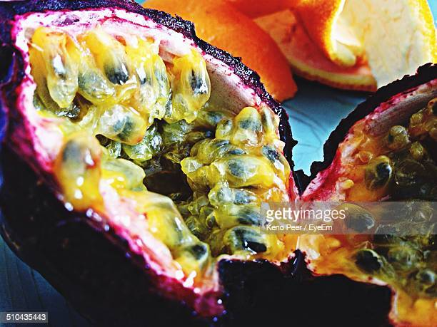 Close-up of passion fruit