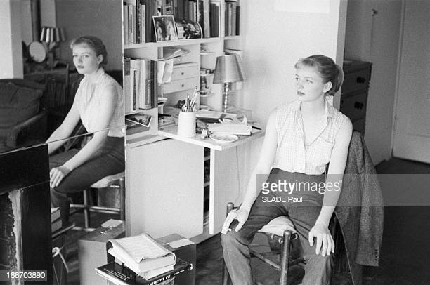 CloseUp Of Patricia Bosworth Student Of Lee Strasberg Actor'S Studio In New York En 1959 aux Etats Unis à New York la jeune actrice Patricia BOSWORTH...